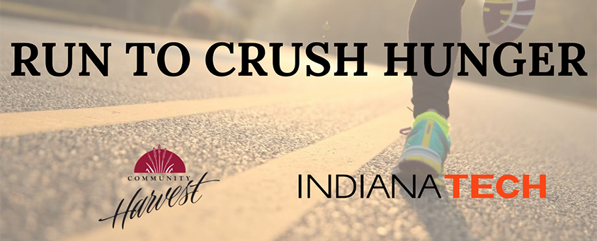 graphic to promote Run to Crush Hunger 5K