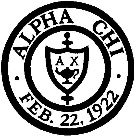 greek letters and crest for alpha chi
