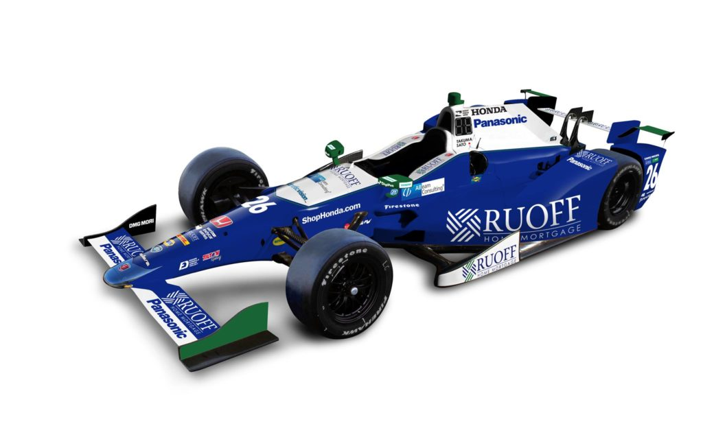 photo of the No. 26 Ruoff Mortgage Indy Car