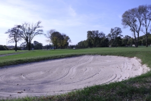 Sandy area of the golf course at the Donald Ross Golf Club