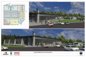 Athletic Building Plan and Perspectives