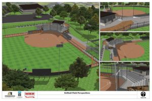 Softball Diamond Rendering