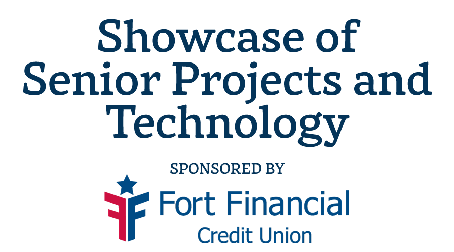 graphic treatment to promote the showcase of senior projects and technology event, April 13