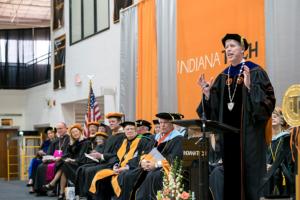 President Karl W. Einolf speaking during his inauguration