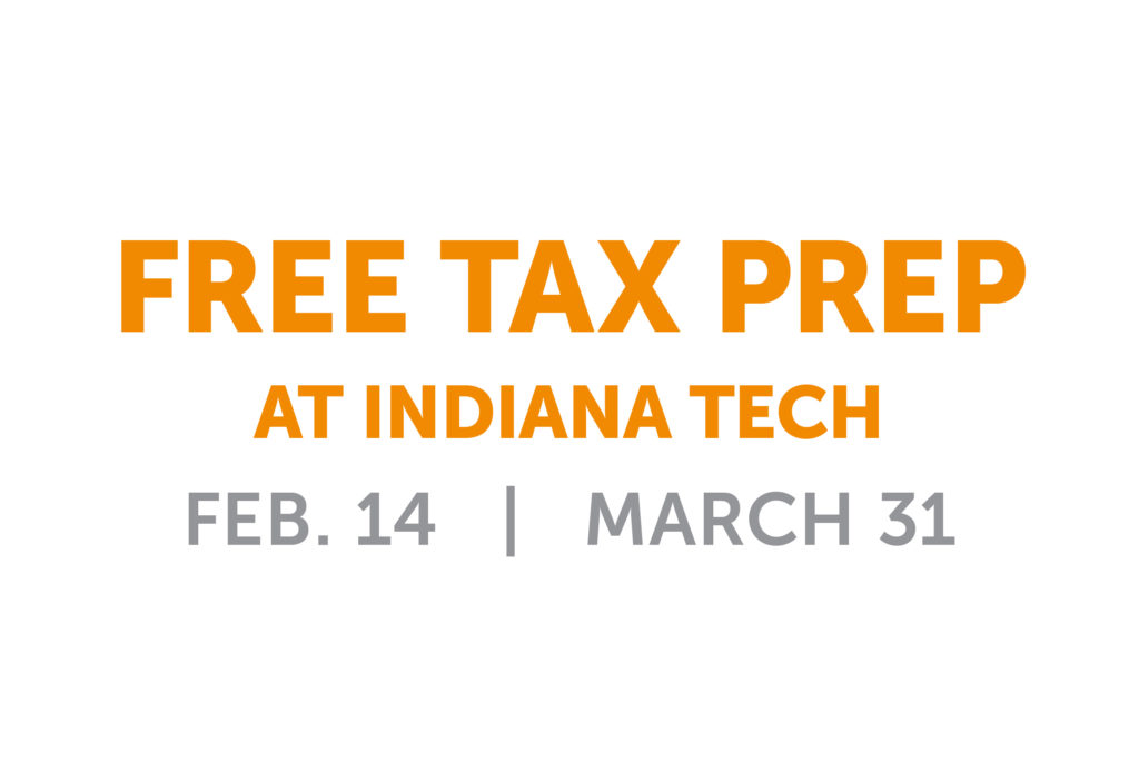 image about free tax preparation sites at Indiana Tech