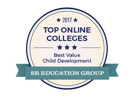 This is SR Education Group's logo for its 2017 Top Online Coleges.