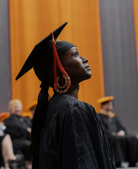 Graduate lookup up at Commencement