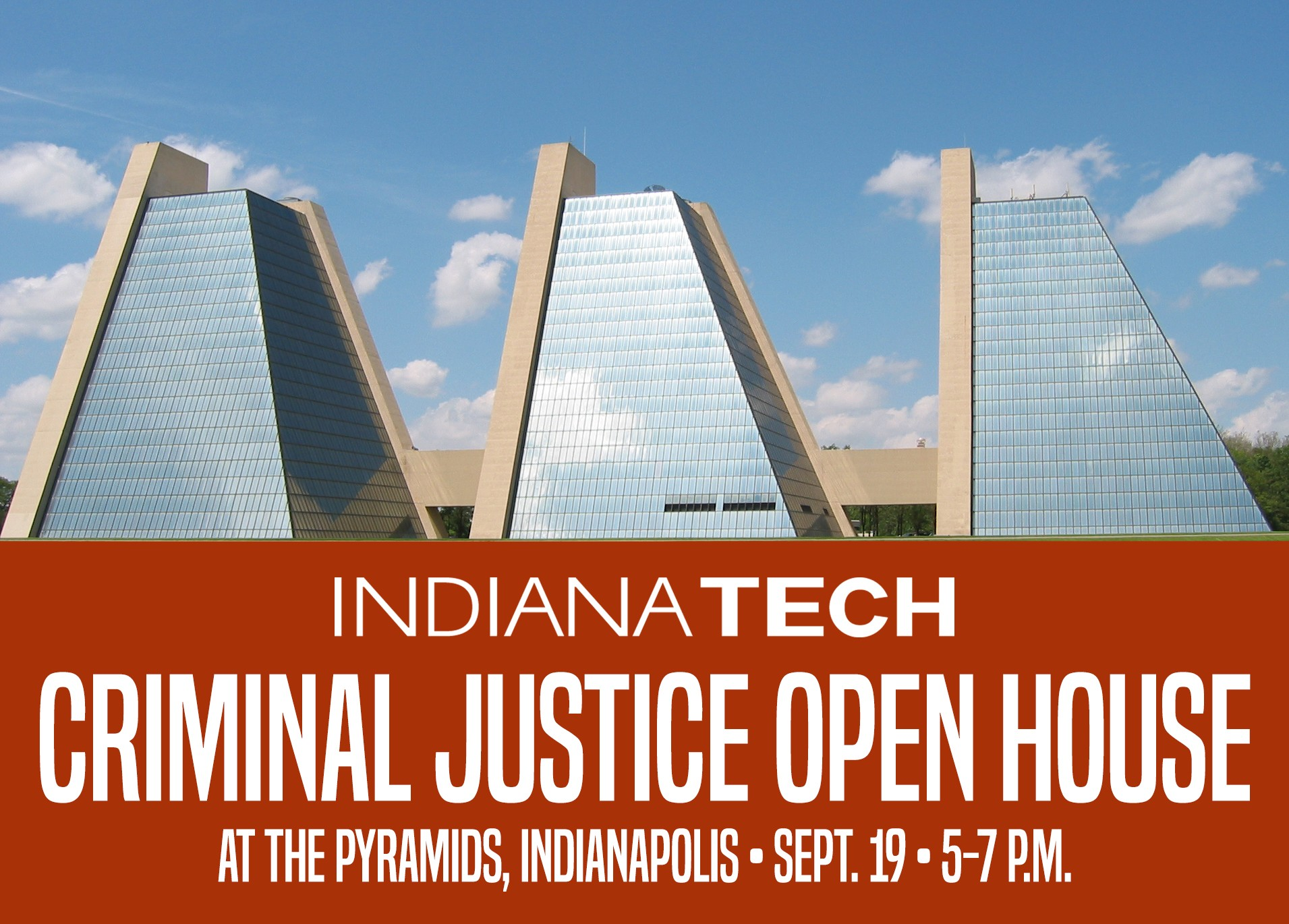 This is an info-graphic that shows the Pyramids complex in Indianapolis, the site of Indiana Tech's campus in that city.