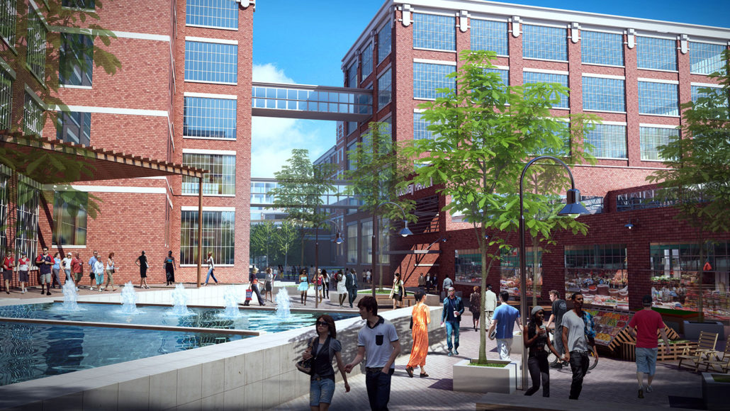 This is an artist's rendering of the Electric Works campus in Fort Wayne, Indiana.