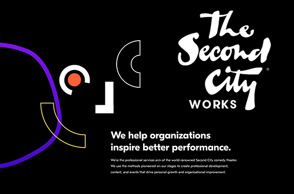 promotional graphic for second city works news release