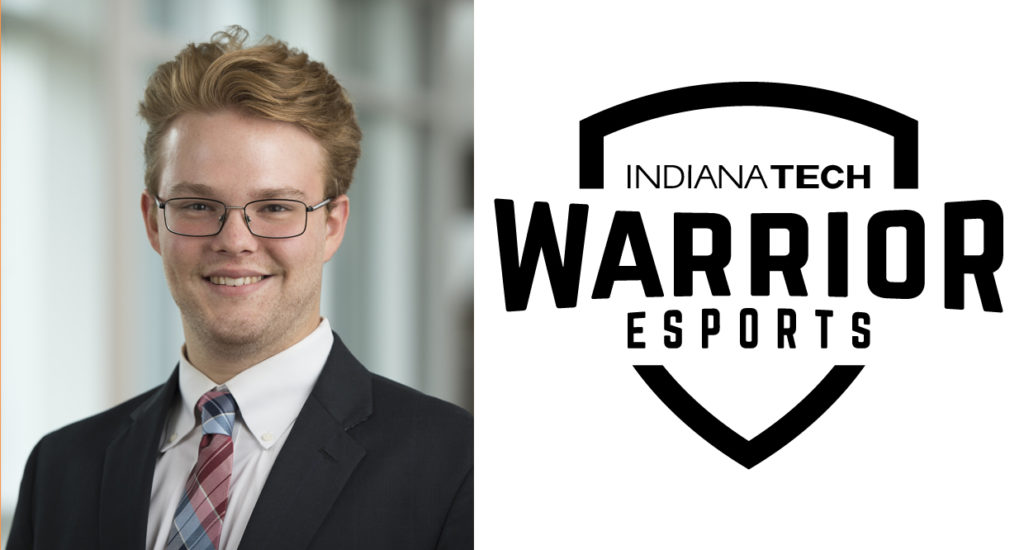 This is a photo of Geoffrey Wright, Indiana Tech's eSports coach.