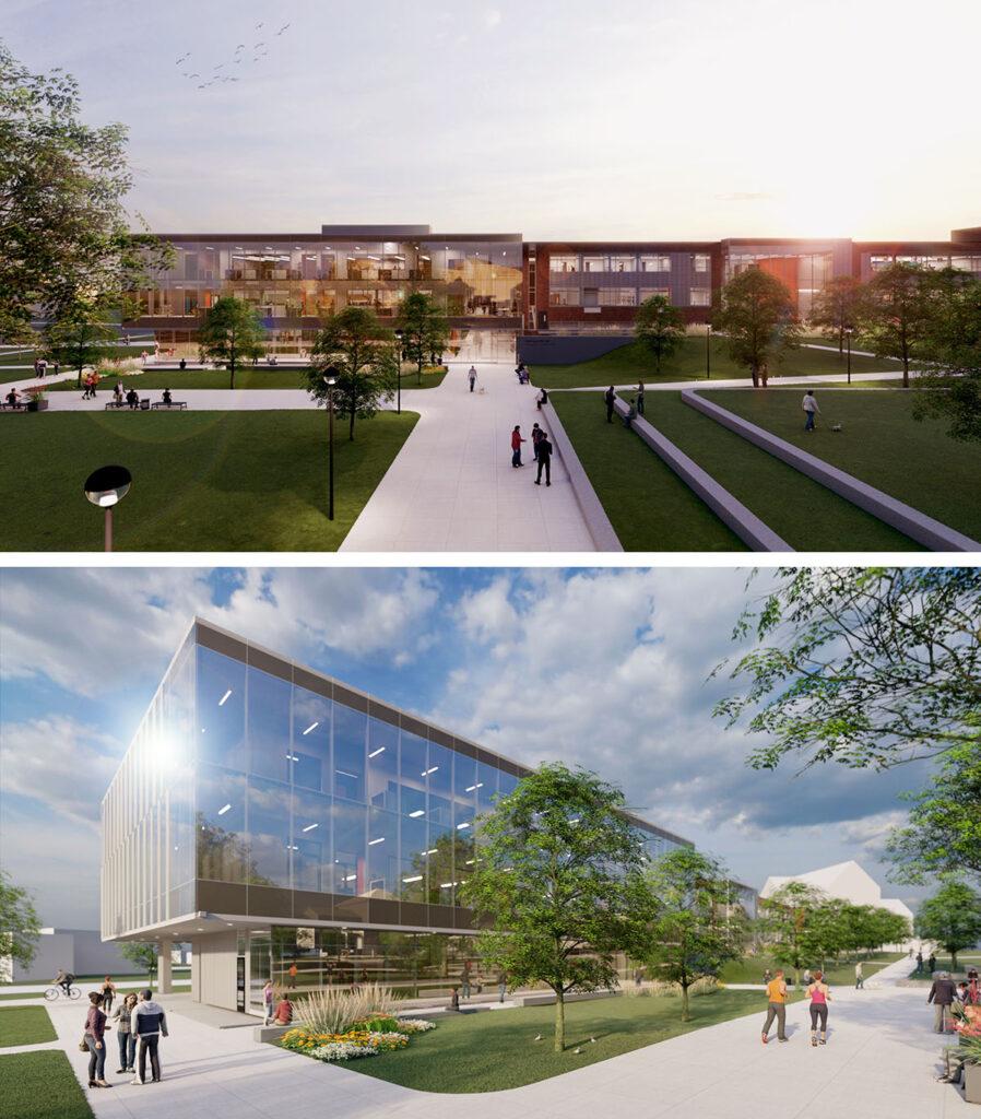 Artist renderings of new Zollner Engineering Center